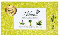 Nchant Aro Magic 100% Pure Essential Oil Lemongrass, Citronella, Patchouli (Pack of 3)