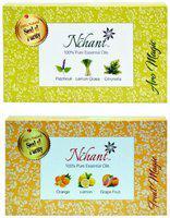 Nchant 100% Pure Patchouli, Lemongrass, Citronella, Orange, Lemon and Grapefruit Essential Oils 6 x 5ml bottles