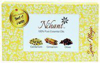 Nchant Spice Magic Pure Clove, Cinnamon, Cardamom Essential Oil (Pack of 3)