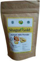 Shagun Gold Pure Organic Mulatani Mitti Powder for face pack & hair treatment (pack of 2) 200gm