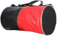 Sector Z Faux leather Men Gym bag & Duffle bag - Black & Red