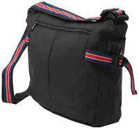 Walletsnbags Black Pu Sling bag