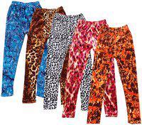 IndiStar Girls Velvet Printed Leggings Pack of 5
