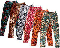 IndiStar Girls Velvet Printed Leggings Pack of 6