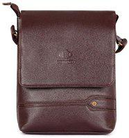 The Clownfish Brown Faux leather Sling bag