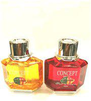 Air show Car Perfume Combo Yellow(Ck-one) & Red(Jasmine ), 70ml (Pack of 2)