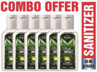 Mistpoffer Fresh Impact Citrus & Cedarwood Instant Hand Sanitizer (30 ml Each) Pack of 6