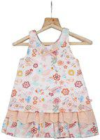 TIDDLYWINGS Baby girl Cotton Printed Frock with bloomer - Multi