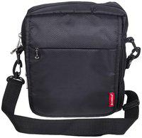Cosmus Black Polyester Sling bag