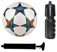 oms best quality 1 PVC football with Pump and 1 Sipper 600ml Football Kit