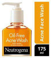 Neutrogena Facial Cleanser Oil Free Acne Wash 175 Ml