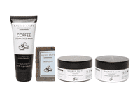 Sacred Salts Coffee Face Wash;Face Scrub;Face Pack & Bathing Soap(Face wash 75gm;scrub 100gm;pack 100gm;Soap 100gm)(Pack of 4)