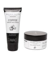 Sacred Salts Coffee Cream Face Wash & Coffee Caramel Face Pack (Face wash 100gm;Pack 100gm)(Pack of 2)
