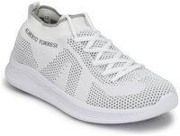 Alberto Torresi Walking Shoes For Men(White)