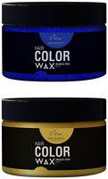 Men Deserve Combo of Hair Color Wax (Brighten Blue 60ml and Metallic Gold60ml)