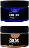 Men Deserve Combo of Hair Color Wax (Brighten Blue;60ml and Metallic Copper;60ml)