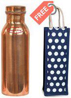 COPPERKING Copper Brown Water Bottle ( 950 ml , Set of 1 )
