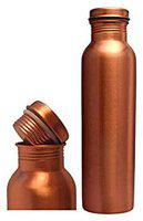 COPPERKING Copper Brown Water Bottle ( 1000 ml , Set of 1 )