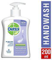 Dettol Liquid Handwash Pump - Ph Balanced Germ Protection Sensitive 200 ml