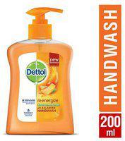 Dettol Liquid Handwash Pump - Ph Balanced Germ Protection Re Energize 200 ml