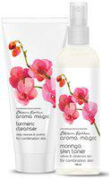 Aroma Magic Combo of Turmeric Cleanser & Moringa Toner - 200ml