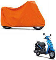 ABP Premium Orange-Matty Bike Body Cover For Suzuki Swish