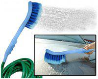 Aryshaa 2 in 1 Car Cleaning Brush with Water Flow Gets Directly Attached to The Water Pipe -(Pack of 1)