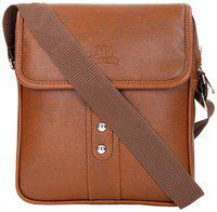 Leather World Tan Pu Sling bag
