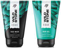 Wild Stone Edge Face Wash (100 ml) and Hairgel (100 ml ) For Men;Pack of 2