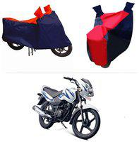 Andride ADTBC112 Bike Body Cover (Red and Blue) for TVS Sport