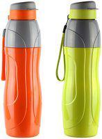 JM GROUP Plastic Assorted Water Bottle ( 900 ml , Set of 2 )