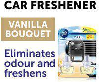 Ambi pur Car Air Freshener Vanilla Bouquet Starter Kit plus Refill 7 ml