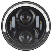 Andride 7 LED headlight Round Half Ring Halo Angel Eye Head Lights H4 Hi/Lo Beam For Royal Enfield Classic All Bikes