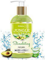 StBotanica Jungle Stimulating Facial Cleanser (Stimulating Face Wash with Avocado, Aloe Vera, Clary Sage, Cucumber) - (200ml)