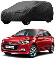 AutoRetail Hyundai Elite i20 Grey Car Body Cover for 2018 Model (Triple Stiched;without Mirror Pocket)