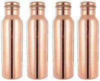 Rastogi Handicrafts Copper Brown Water Bottle ( 1000 ml , Set of 4 )