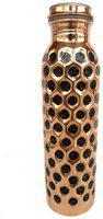 Rastogi Handicrafts Copper Brown Water Bottle ( 900 ml , Set of 1 )