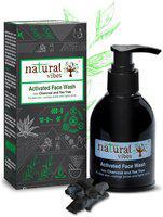 Natural Vibes, Ayurvedic Activated Charcoal & Tea Tree Face Wash 150 ml