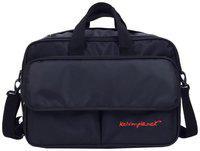 Kelvin Planck expandable black laptop side bag for men-laptop messenger bag upto 15.6 inches