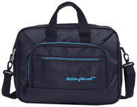 kelvin planck expandable black laptop side bag for men -laptop messenger bag upto 15.6 inches (office bag)