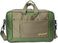 kelvin planck converible green laptop office side bag for men-convert as backpack