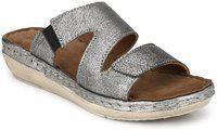 Delize Women Silver Sandals
