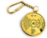 Vintage Brass 100 Years Calendar Working Keychain