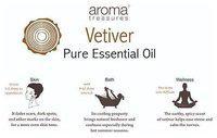 Aroma Treasures Vertiver Essential Oil - 100% Pure & Natural 10 ml