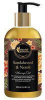 Oriental Botanics Body Massage Oil - Sandalwood & Neroli 200 ml