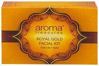 Aroma Treasures Royal Gold Facial Kit For Oily Skin - Single Time Use 20 g