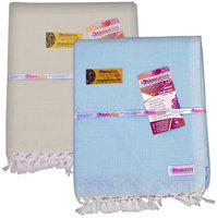 EthnicAlive Bamboo Solid Single Bedsheet ( 2 Bedsheets without Pillow Cover , Multi )