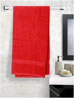 Welspun Eco Dry Red Medium Bath Towel 1 PC