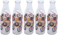 Agile 1000 ml Glass Transparent Water Bottles - Set of 5