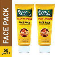 Roop Mantra Haldi Chandan Face Pack 60g Pack of 2